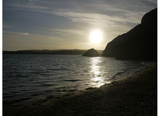 Foye Old Exchange: Polkerris beach.
