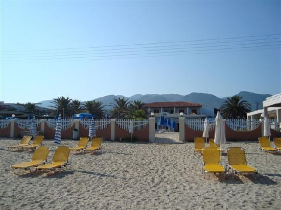 Acharavi Beach Hotel: View from the sea