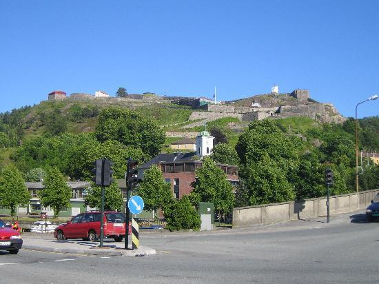 Halden, Norveç: The fortress from the city