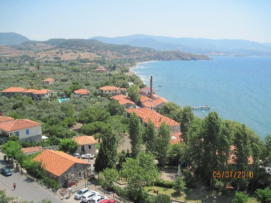 Panselinos Hotel Apartments: View from Castle at Molyvos
