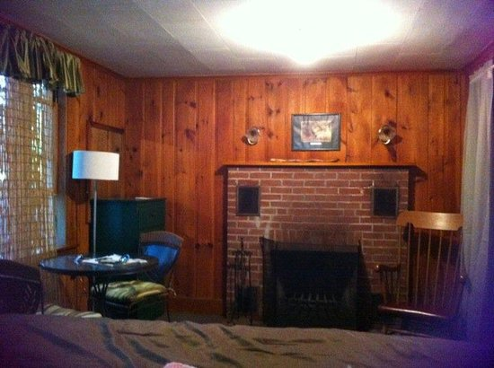 Hinckley's Dreamwood Cabins: fireplace
