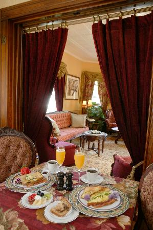 Savor breakfast at your private table by candlelight