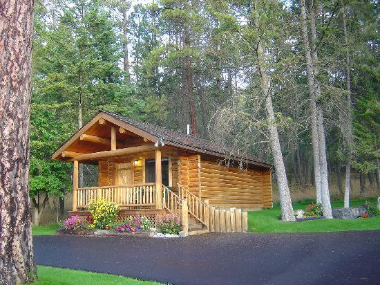 Somers Bay Log Cabin Lodging: Cabin in the Woods