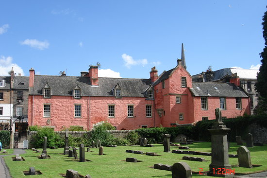 Abbot House across from Dunfermline Abby