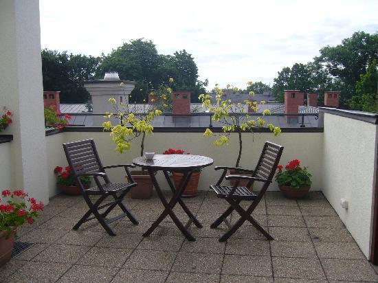 Hotel Grodek : Rooftop patio