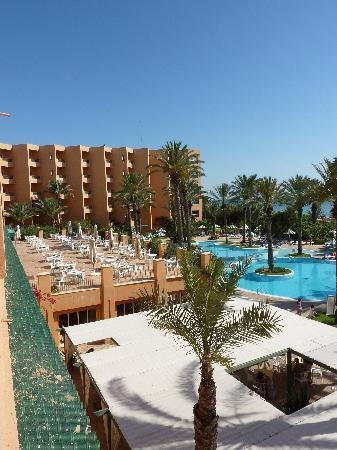 Hotel Vendome El Ksar Resort & Thalasso: Blick vom Zimmer auf den Pool