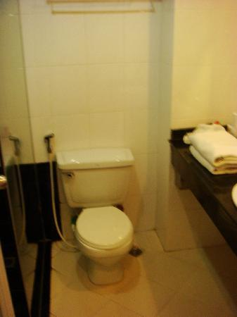 Hanoi Rendezvous Hotel: clean toilet with shower