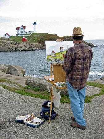 Cutty Sark Motel: Strand York Beach - Maler u. Leuchtturm
