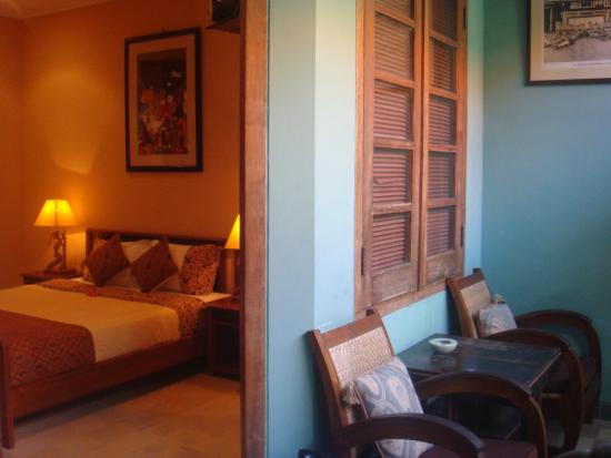 Puri Damai: our bedroom & sitting area