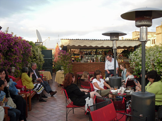 Amazing Ristorante Roof Garden Hotel Forum Roma: Rooftop Bar