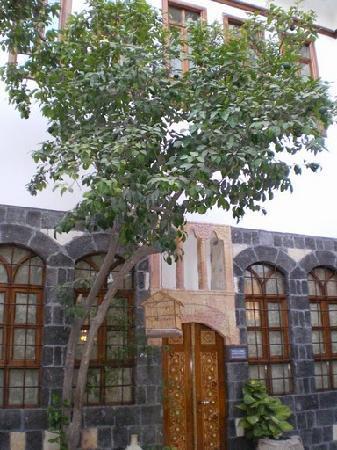 Al Pasha Hotel: First Courtyard A little bird sings in the bird house