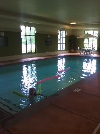Hampton Inn and Suites Munster: Fun in the pool!!