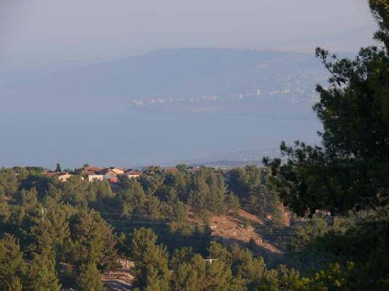 Safed, Israel: view to the lake of galilee