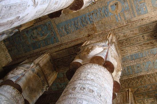 Mara House: Inside the amazing Dendara Temple.