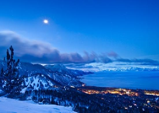 South Lake Tahoe, Californië: Winter in Beautiful Lake Tahoe
