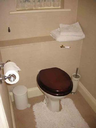 "La Bonne Vie Guest House: the bog - note the word ""clean"" on the toilet brush!!!!"