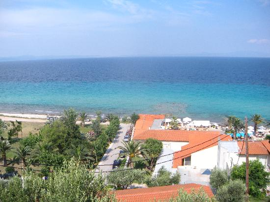Afitos, Greece: a part of the beach