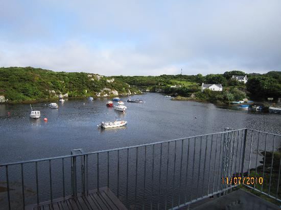 The Heron's Cove: view of the harbour from our room