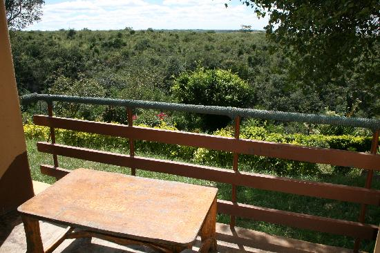 Masai Lodge: View of Nairobi NP from room's balcony