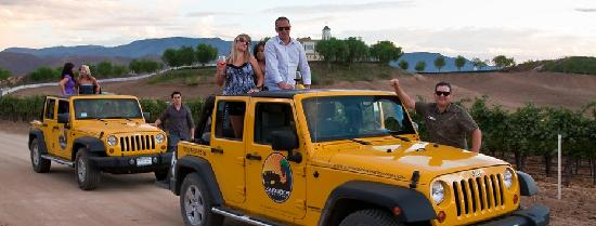 Sunrider Jeep and Wine Tours of Temecula: the jeeps