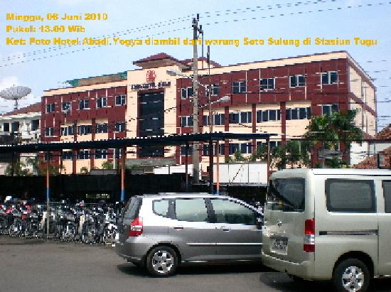 Abadi Hotel. This photo was taken from Tugu Train Station, in front of the Hotel