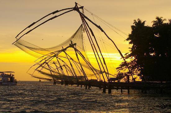 Cochin, Inde : Kochi Chineese fishing nets