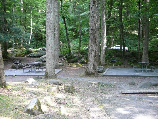 Picnic areas with grills at Chimneys Picnic Area