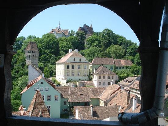 Wieża Zegarowa: Sighisoara - view from clock tower of city