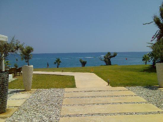 Kolymbia Beach Hotel: Il mare dalla reception