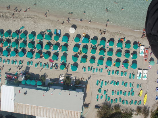 Gallipoli, Italy: Lido Le Canne from air