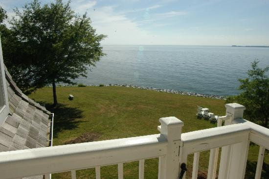 Wades Point Inn on the Bay: view from the widows walk