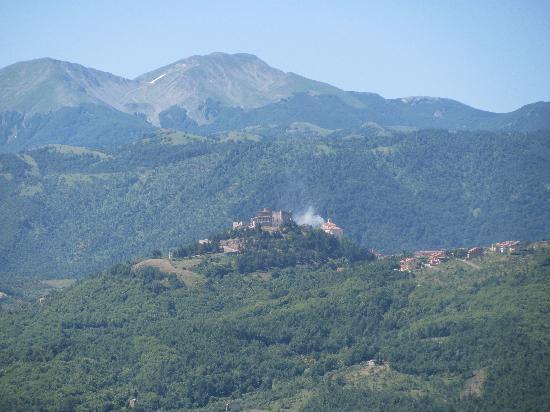 Grumento Nova, Italia: view from the balcony