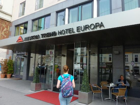 Entrance On The Quiet Side Of The Hotel Picture Of Austria Trend