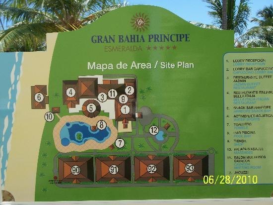 Luxury Bahia Principe Esmeralda Don Pablo Collection : map of Esmeralda
