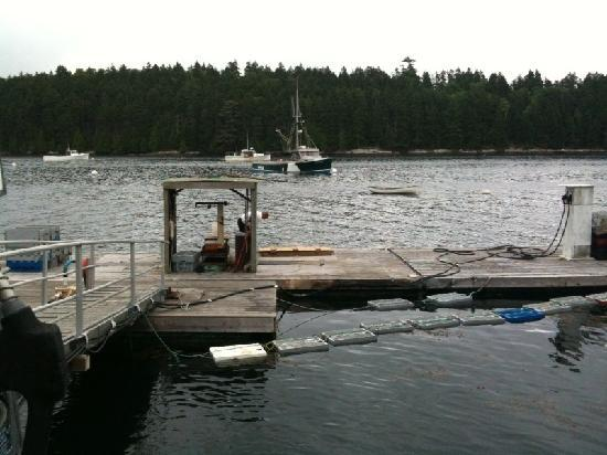 Quahog Bay Inn in Harpswell, Maine: dock where we got the lobsters!