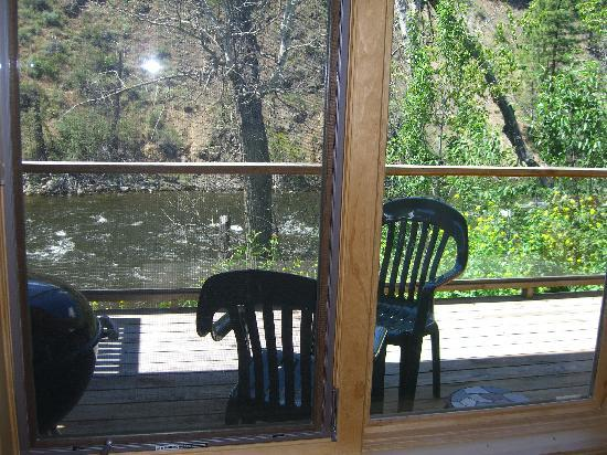 River's Edge Resort: view from the kitchen table