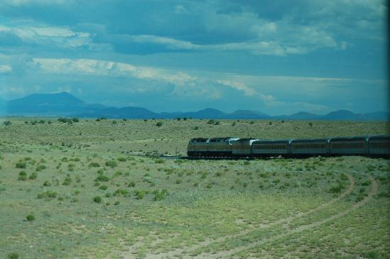 Williams, Arizona: Look past the engine. What a view