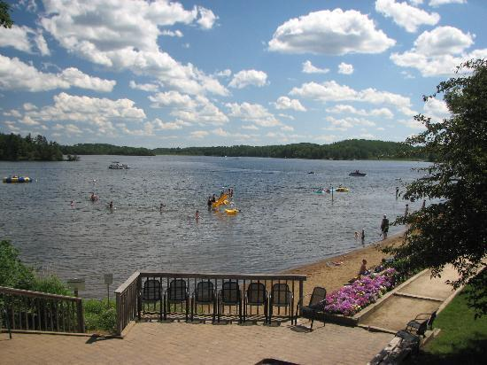 Ruttger's Bay Lake Lodge : Beach and swimming-Watch Out For Glass!