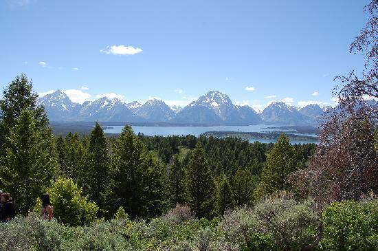 Signal Mountain Summit Road: View from top of Tetons