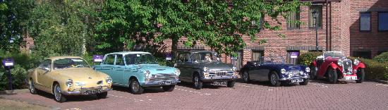 Stratford Manor Hotel: The Open Road's Austin Healey in good company in pole position at the Stratford Manor