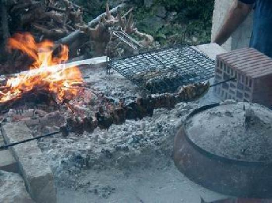 Brac Island, Croatia: food from the grill