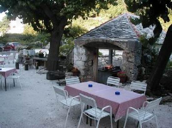 Brac Island, Croatia: grill house in the background