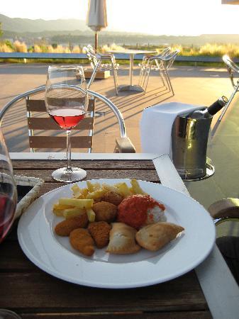 Exe Las Margas Golf: Dinner on the terrace