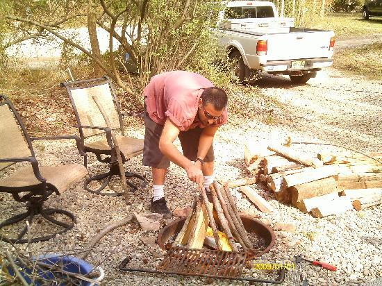 Crystal Springs Wilderness Lodges & RV Resort: fire