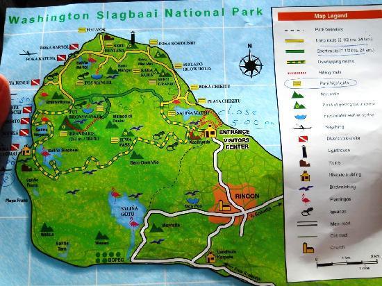 Parc national Washington-Slagbaai, Bonaire : A map of the park