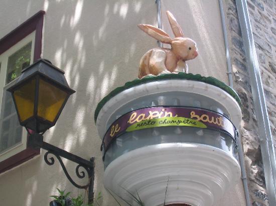 Le Lapin Sauté: Le Lapin Saute bunny sign
