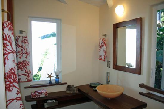 Waipio Rim: Badezimmer - mit Blick auf's Meer (auch IN der Dusche)