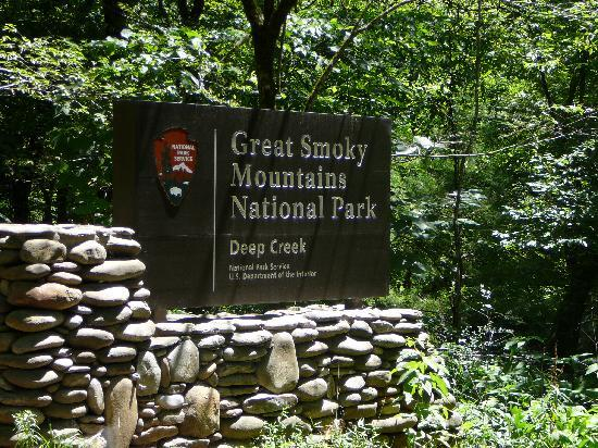 Indian Creek Falls is in the Deep Crrek area of the Great Smoky Mountains National Park