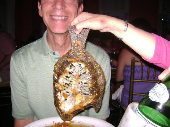 Hyman's Seafood: finished flounder