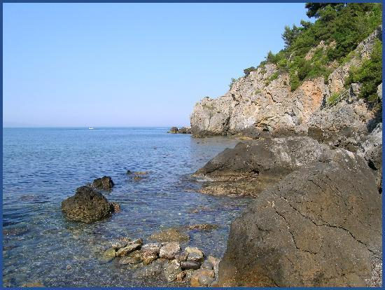 "Hotel Capo d'Uomo: ""Private"" beach"